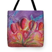 Abstract Red And Purple And Blue Tote Bag