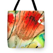 Abstract Red Art - The Promise - Sharon Cummings Tote Bag