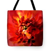 Abstract Red Chrysanthemum Tote Bag