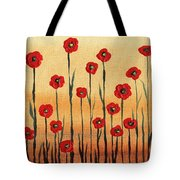 Abstract Red Poppy Field Tote Bag