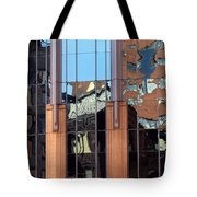 Abstract Reflections In Glass Tote Bag