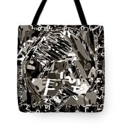 Abstract Rock 3d Art  Huge Stone Mount Made Of Alphabet Soup Tote Bag