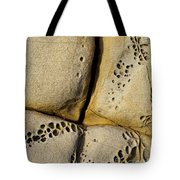 Abstract Rock Pocked With Holes And Divided By Lines Tote Bag