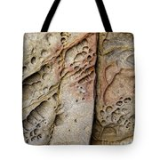 Abstract Rock Stained With Red And Gold Tote Bag