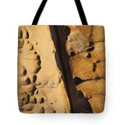 Abstract Rock With Diagonal Line Tote Bag