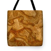 Abstract Rock With Swirling Lines Tote Bag