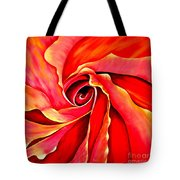 Abstract Rosebud Fire Orange Tote Bag