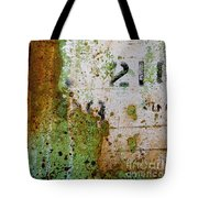 Rust Absract With Stenciled Numbers Tote Bag
