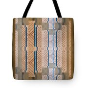 Wood And Blue Tote Bag