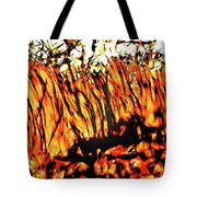 Abstract Saw Grass Iv Tote Bag