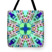 Abstract Seamless Pattern  - Blue Green Purple Pink White Tote Bag