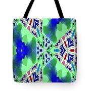 Abstract Seamless Pattern - Blue Green Turquoise Red White Tote Bag