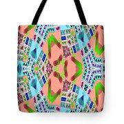 Abstract Seamless Pattern - Blue Pink Green Purple Tote Bag