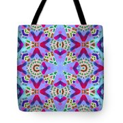 Abstract Seamless Pattern  - Blue Pink Purple Red Green Brown White Tote Bag