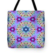 Abstract Seamless Pattern  - Blue Purple Pink Violet Lilac Orange Green Tote Bag
