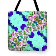 Abstract Seamless Pattern  - Blue Turquoise Green Pink White Tote Bag