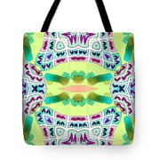 Abstract Seamless Pattern  - Yellow Blue Turquoise Purple Pink White Green Tote Bag