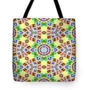 Abstract Seamless Pattern  - Yellow Brown Gray Purple Green Tote Bag