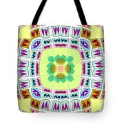 Abstract Seamless Pattern  - Yellow Green Blue Purple White Gray Tote Bag