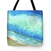 Abstract Seascape Beach Painting A1 Tote Bag