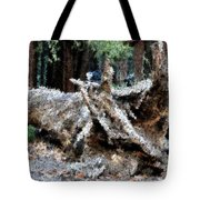 Abstract Sequoia Tree Tote Bag