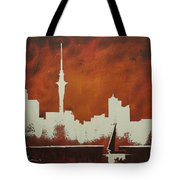 Abstract Skyline - Auckland Tote Bag