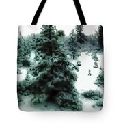Abstract Snowy Trees Lighter Tote Bag