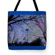 Abstract Space Needle Tote Bag