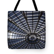 Abstract Spiderweb View Of A Central Tower Skylight At The World Tote Bag