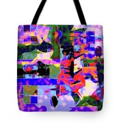 Abstract Sports Montage Tote Bag
