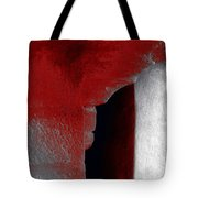 Abstract Square Red Black White Grey Textured Window Alcove 2a Tote Bag