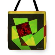 Abstract Squares And Angles Tote Bag