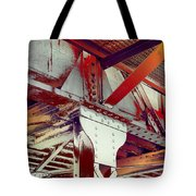 Grunge Steel Beam Tote Bag