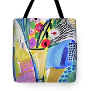 Abstract Still Life With Flowers Tote Bag