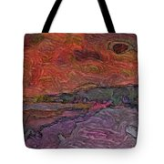 Abstract Sunset Tote Bag