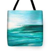 Abstract Sunset In Blue And Green 2 Tote Bag