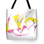 Abstract Swan Tote Bag