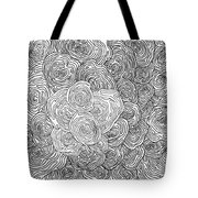 Abstract Swirl Design In Black And White #1 Tote Bag