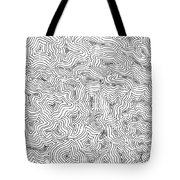 Abstract Swirl Design In Black And White Tote Bag