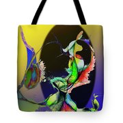 Abstract Tarot Card The Lovers Tote Bag