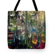 Abstract - The Man Buried In Moon River Tote Bag