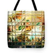 Abstract-through Glass Tote Bag