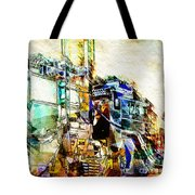 Abstract Train Tote Bag