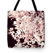 Abstract Tree Landscape Dark Botanical Art Rose Tinted Tote Bag