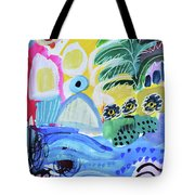 Abstract Tropical Landscape Tote Bag