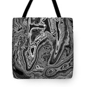 Abstract Tulip 3 Tote Bag