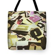 Abstract Typescript Tote Bag