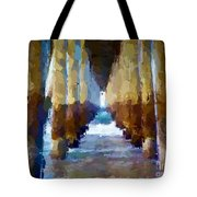 Abstract Under Pier Beach Tote Bag