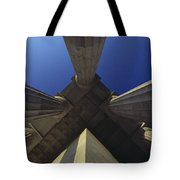 Abstract View Of Columns Of Lincoln Tote Bag
