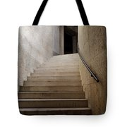 Abstract View Of Stone Curved Staircase At The World War I Monum Tote Bag